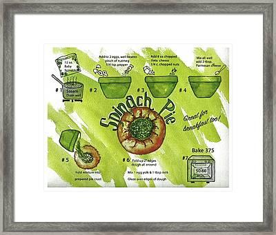 Recipe-spinach Pie Framed Print