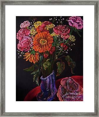 Recital Bouquet Framed Print by Emily Michaud