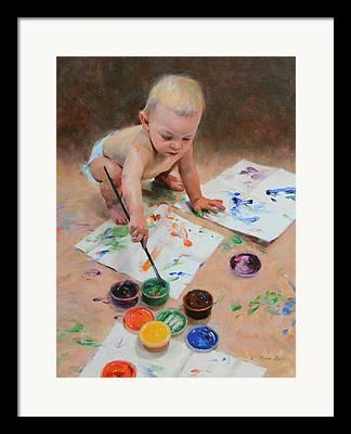 Children At Play Framed Prints