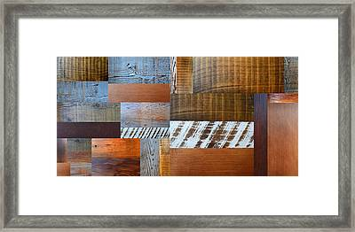Reclaimed Wood Collage 4.0 Framed Print by Michelle Calkins