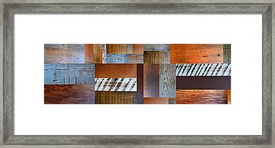Reclaimed Wood Collage 5.0 Framed Print by Michelle Calkins