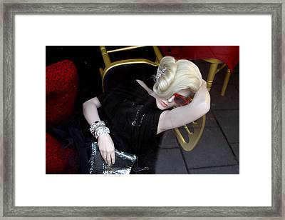 Reclined To Myself Framed Print by Jez C Self