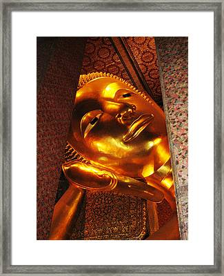 Reclining Buddha Framed Print by Oliver Johnston