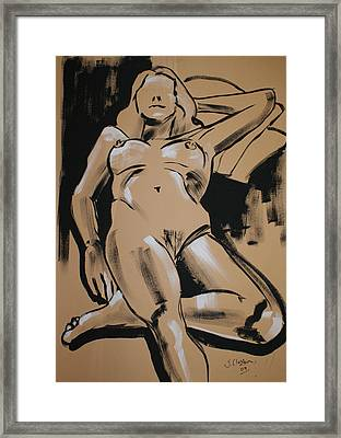 Reclining Female 1 Framed Print