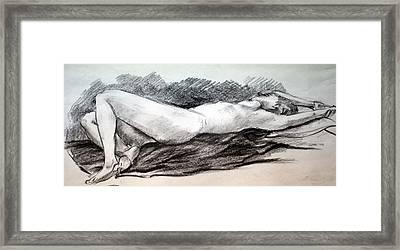 Reclining Figure Framed Print