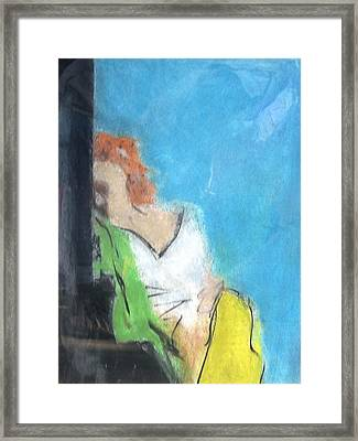 Reclining Girl Framed Print by Thomas Armstrong