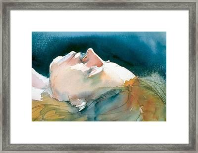 Reclining Head Study Framed Print