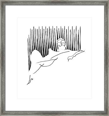 Reclining Lady Framed Print by Keith A Link