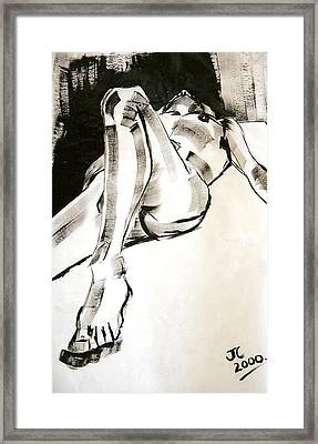 Reclining Male Framed Print