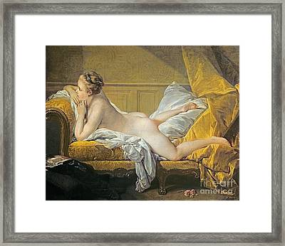 Reclining Nude Framed Print by Francois Boucher