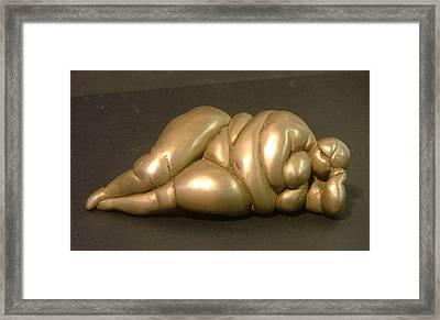 Reclining Nude Framed Print by Gary Kaemmer