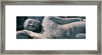 Reclining Stone Buddha Polonnaruwa, Sri Framed Print by Panoramic Images