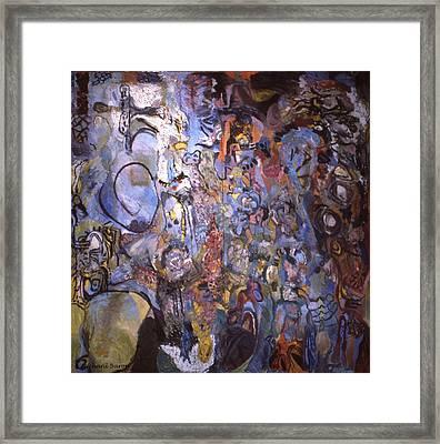 Recognition Of Baselitz, Schnabel, Langlais Framed Print