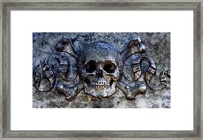 Recoleta Skull Framed Print