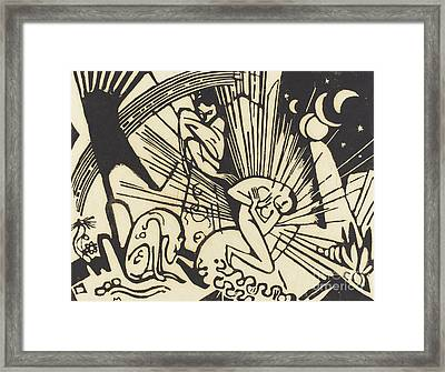 Reconciliation Framed Print by Franz Marc