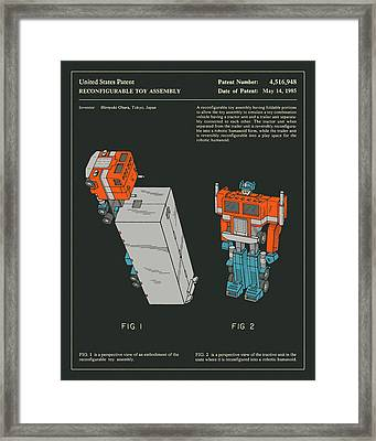 Reconfigurable Toy Patent 1985 Framed Print by Jazzberry Blue