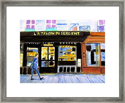 Reconnoiter Parisian Stores In Your Dreams Framed Print by Stanley Morganstein