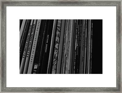 Record Shelf Framed Print