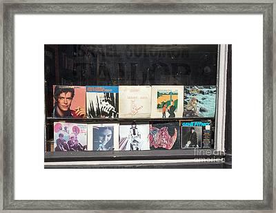 Record Store Burlington Vermont Framed Print by Edward Fielding