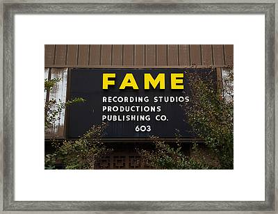 Recording Studio, Fame Recording Framed Print by Panoramic Images