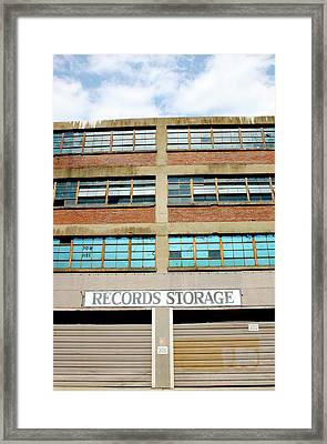 Records Storage- Nashville Photography By Linda Woods Framed Print