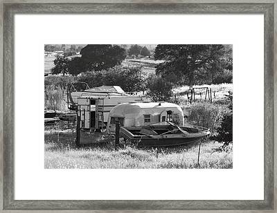 Recreational Vehicles Chinese Camp Framed Print by Troy Montemayor