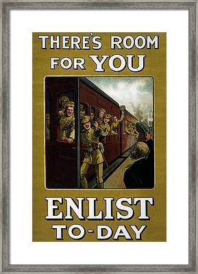 Recruitment Poster  Framed Print by English School