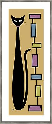 Rectangle Cat 4 Framed Print by Donna Mibus