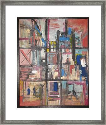 Rectangle Framed Print by Vivien Ferrari