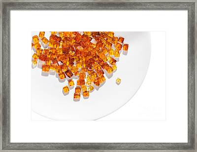 Framed Print featuring the photograph Rectangular Stones Yellow Amber  by Andrey  Godyaykin