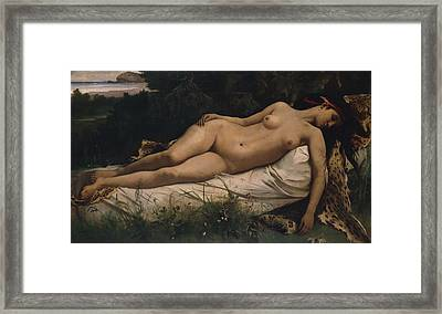 Recumbent Nymph Framed Print