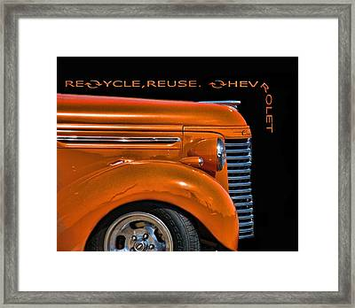 Recycle Framed Print by Kevin  Sherf