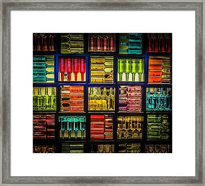 Recycled Bottles Room Divider Framed Print by Bette Levine