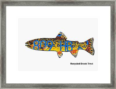 Recycled Brook Trout Framed Print