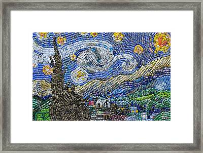Recycled Night Framed Print