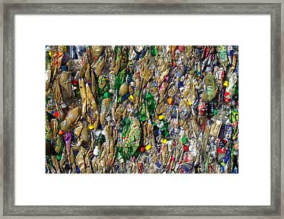 Recycled Plastic Bottles Framed Print by David Buffington