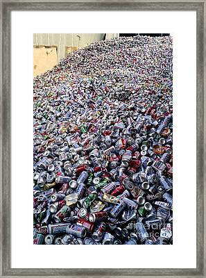 Recycling Aluminum Cans Framed Print