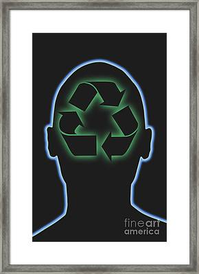 Recycling Framed Print by George Mattei