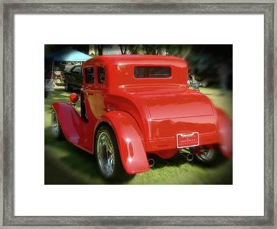 Red - Many Parts - Hot Rod Framed Print