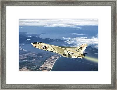 Red 1 Lead Framed Print