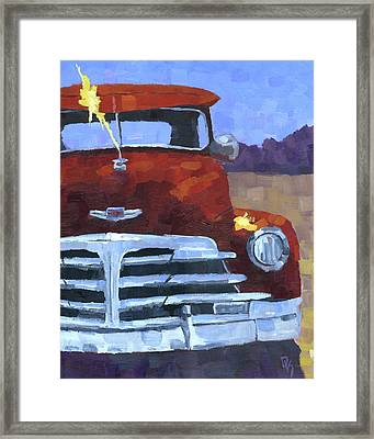 Red 1948 Chevy  Framed Print