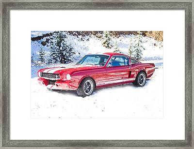 Red 1966 Ford Mustang Shelby Framed Print by James BO  Insogna