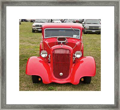 Framed Print featuring the photograph Red 1990 by Guy Whiteley