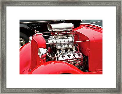 Framed Print featuring the photograph Red 1992 by Guy Whiteley