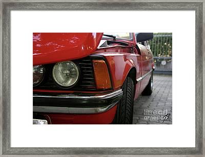 Red 323i Bmw Framed Print
