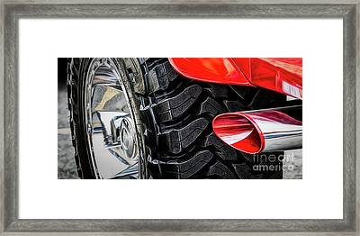 Framed Print featuring the photograph Red 4x4 by Brad Allen Fine Art