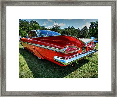 Red '59 Impala 001 Framed Print