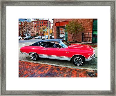 Red 68-69 Chevelle Ss 396 Framed Print