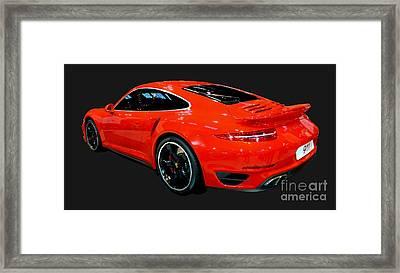 Red 911 Framed Print