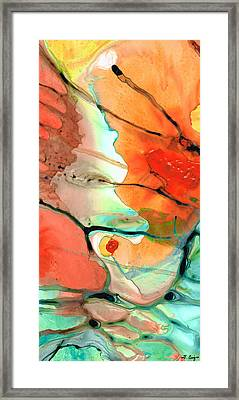 Red Abstract Art - Decadence - Sharon Cummings Framed Print